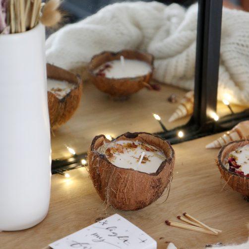 DIY : Bougie en noix de coco