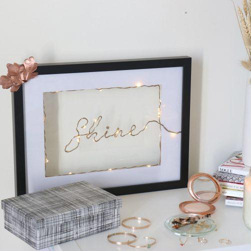 DIY : Le tableau lumineux