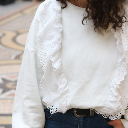DIY : Le sweat en dentelle