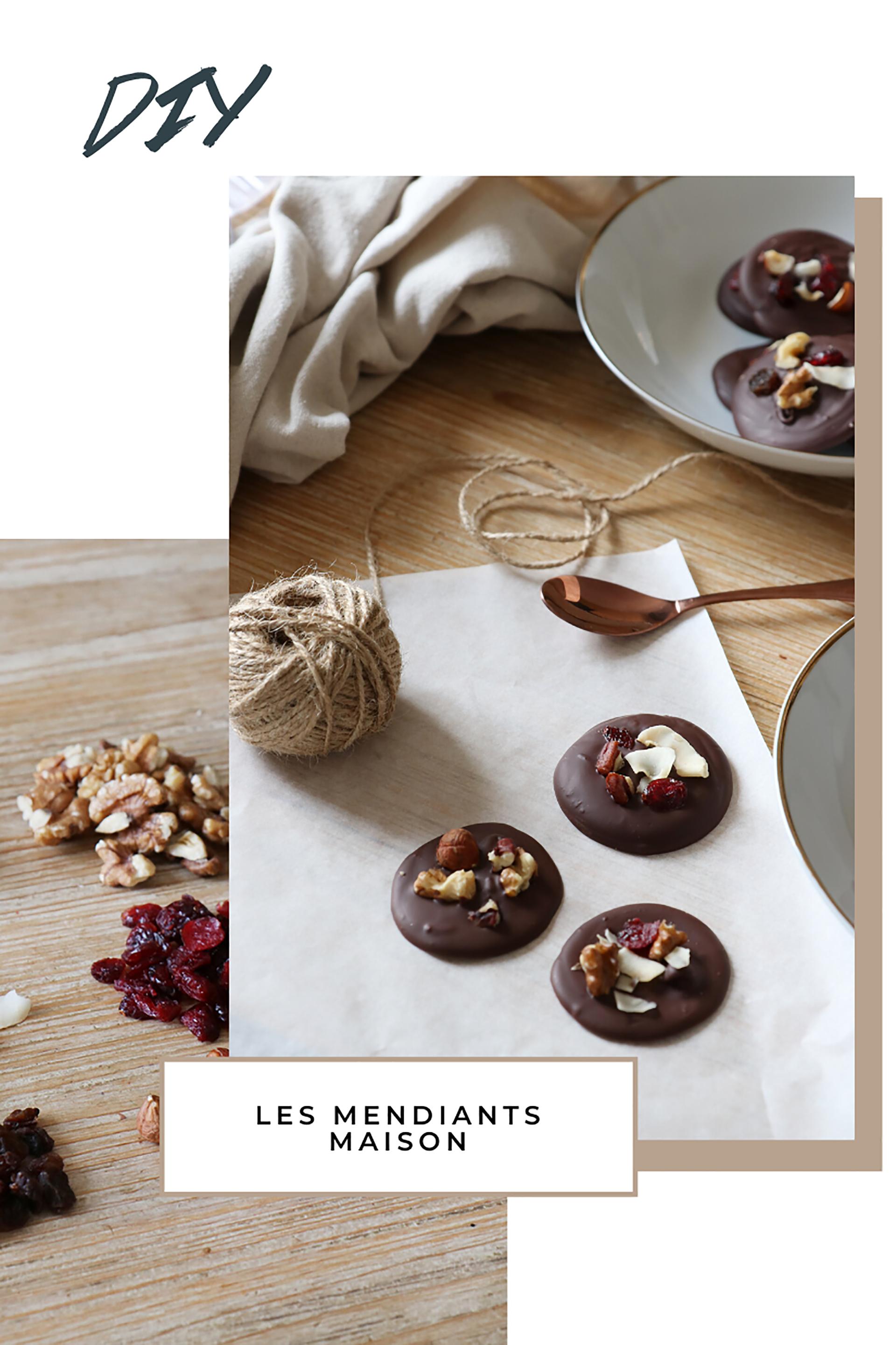 mendiants maison au chocolat recette facile