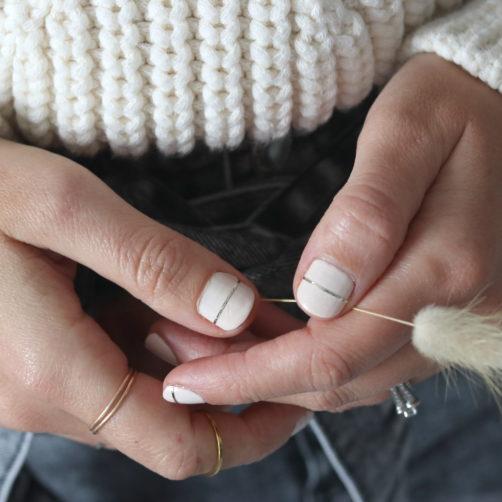 DIY : Le nail art doré