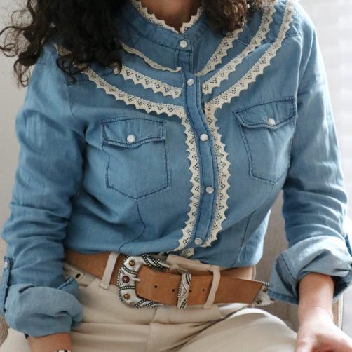 DIY : La chemise jeans dentelle